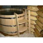 Купели круглые 1500*1500*1100 мм (1300 литров) кедр