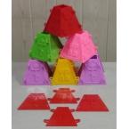 Форма для пасхи из творожной массы (0,5 кг.)- в наличии формы разных цветов (красный, лиловый, розовый)